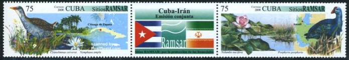 RAMSAR 2v+tab [:T:], joint issue Iran